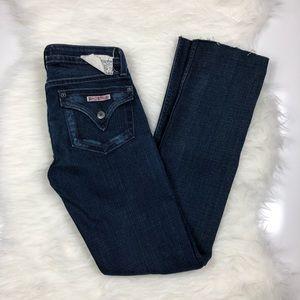Hudson Flap Pocket Straight Leg Raw Hem Jeans